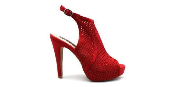 Dámske červené perforované črievičky Furiezza