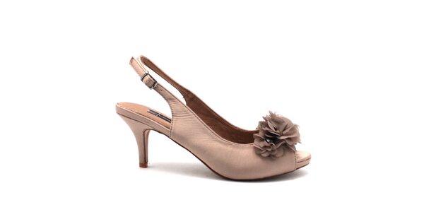 Dámske svetlé topánočky s dekoráciou na špičke Furiezza