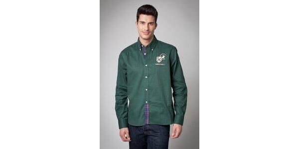 Pánska tmavo zelená košeľa Valecuatro