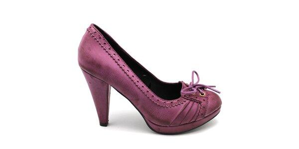 Dámske ružové lodičky so šnúrkou Furiezza