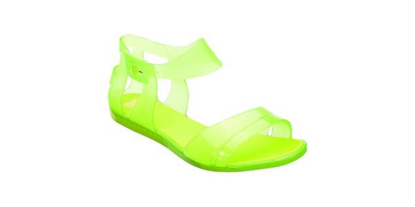 Dámske žltozelené sandálky Mel