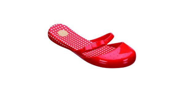 Dámske červené topánočky s bodkami Mel