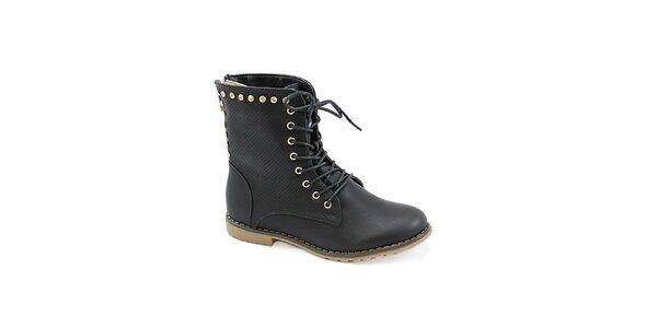 Dámske čierne topánky so zipsom na zadnej strane Colorful