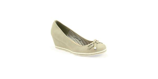 Dámske šedé topánočky na kline Colorful