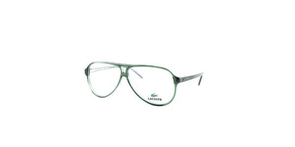 Zelené rámy so vzorovanými stranicami Lacoste