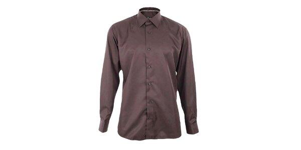 Pánska hnedá košeľa Dicotto