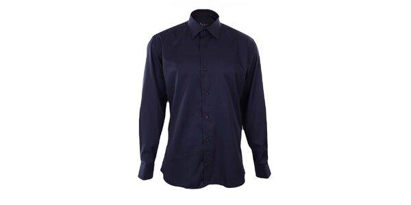 Pánska tmavo modrá košeľa s červenými detailmi Dicotto