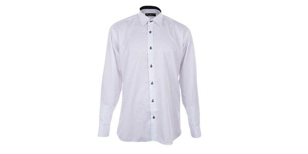 Pánska biela košeľa s kontrastnou légou Dicotto