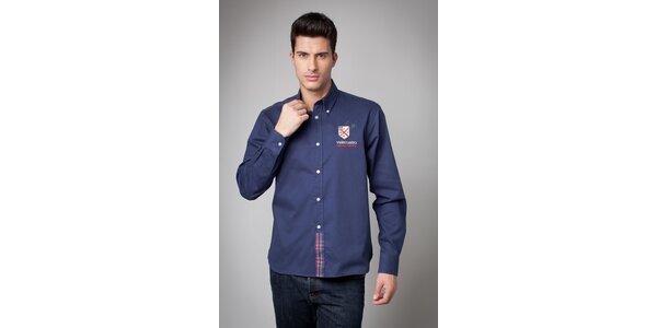 Pánska tmavo modrá košeľa Valecuatro