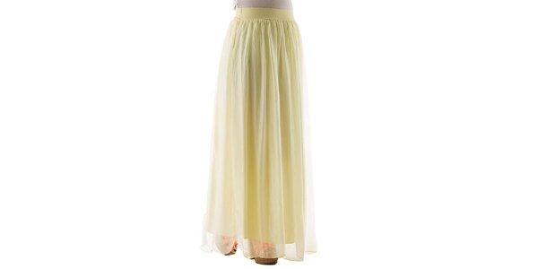 Dámska dlhá žltá hodvábna sukňa Keysha