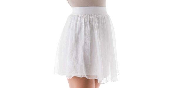 Dámska krátka biela hodvábna sukňa Keysha