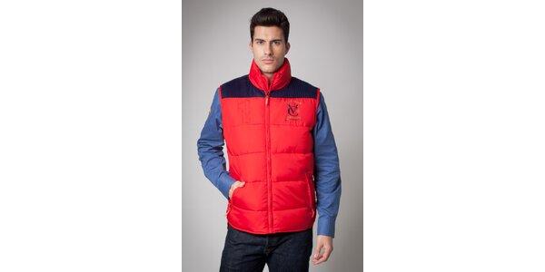 Pánska červená prešívaná vesta Valecuatro