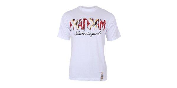 Pánske biele tričko s potlačou na hrudi Phat Farm