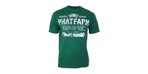Pánske tmavo zelené tričko Phat Farm