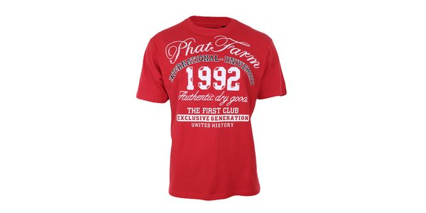 Pánske červené tričko Phat Farm