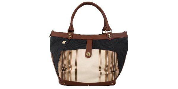 Dámska kabelka s béžovo-hnedými detailmi Jahn for Jahn