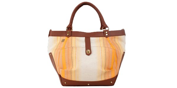 Dámska kabelka so smotanovo-hnedými detailmi Jahn for Jahn