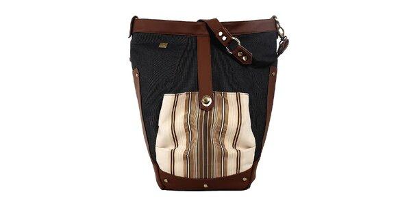 Dámska priestranná kabelka s béžovo-hnedými detailmi Jahn for Jahn