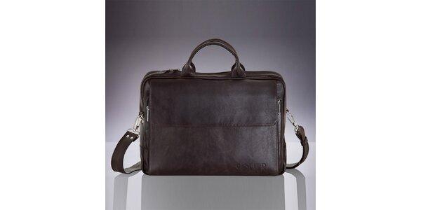 Pánska hnedá kožená taška Solier