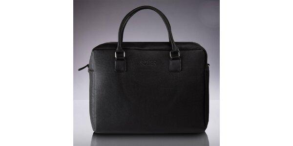 Pánska taška s popruhom v čiernej farbe Solier