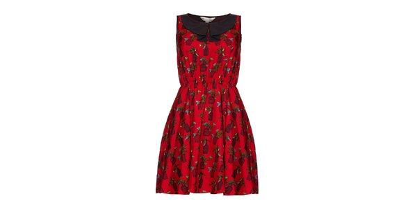 Dámske červené šaty Yumi