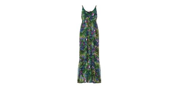 Dámske zelené dlhé šaty Yumi