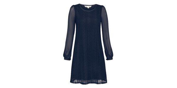 Dámske modré čipkové šaty Yumi