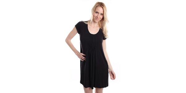 Dámska čierna nočná košeľa s plisovaním DKNY