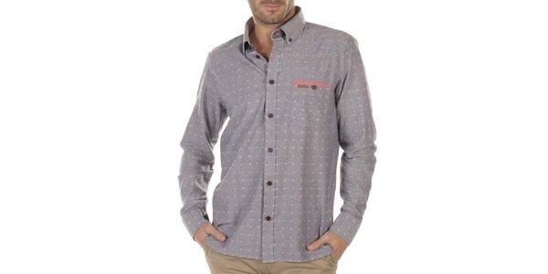 Pánska šedá košeľa s drobným vzorom Bendorff Next