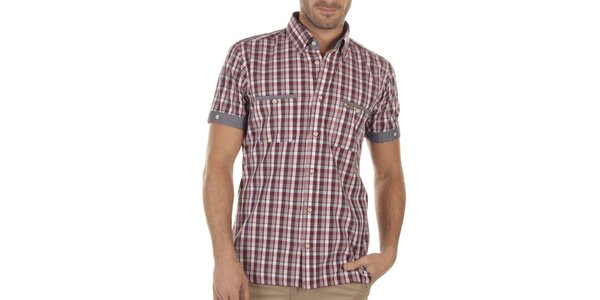 Pánska kockovaná košeľa s krátkymi rukávmi Bendorff Next