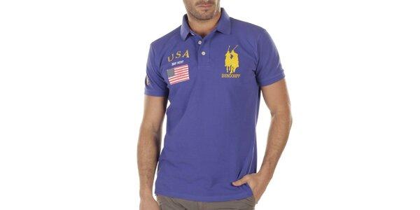 Pánske fialové polo tričko Bendorff Next
