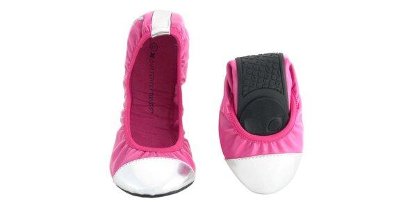 Dámske ružové balerínky Butterfly Twists