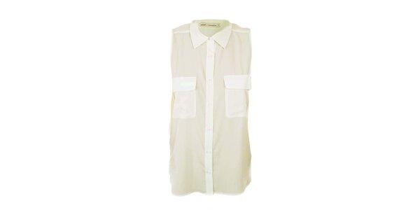 Dámska biela košeľa bez rukávov Next