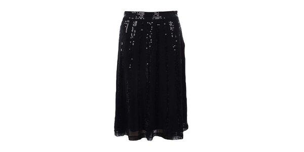 Dámska čierna sukňa s flitrami Mexx