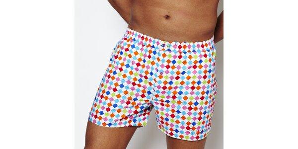 Pánske dúhové kárované boxerky Color Code