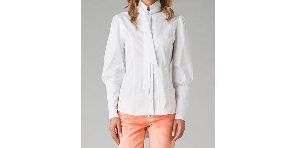 Biela dámska košeľa s mašľou Twist