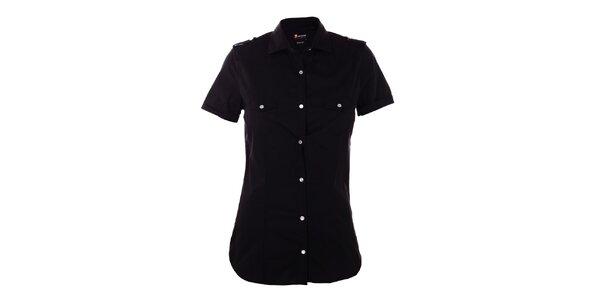 Dámska čierna košeľa 7camicie s patentkami