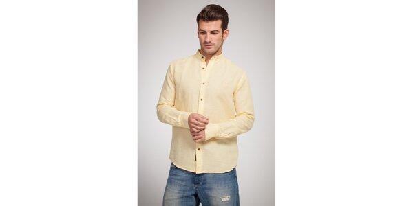 Pánska vanilkovo žltá košeľa Bendorff