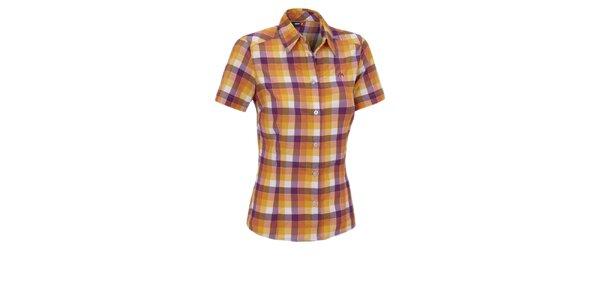 Dámska oranžovo-fialová kockovaná športová košeľa Maier