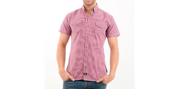 Pánska červená kockovaná košeľa Wessi