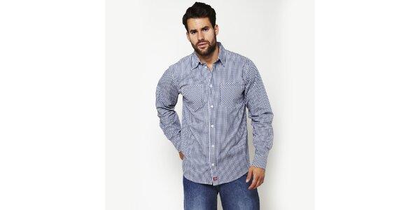 Pánska modro-biela kockovaná košeľa Dickies
