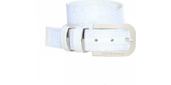 Dámsky biely opasok so vzorom Roccobarocco