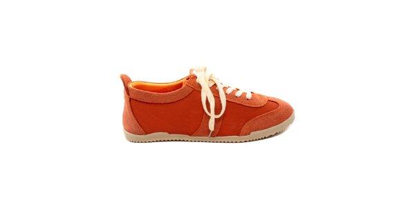 Dámske oranžové kožené tenisky Bagatt