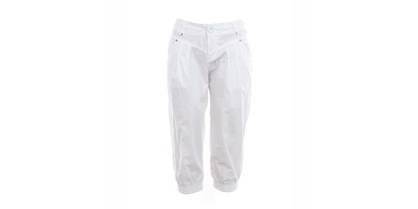 Dámske biele capri nohavice Exe Jeans