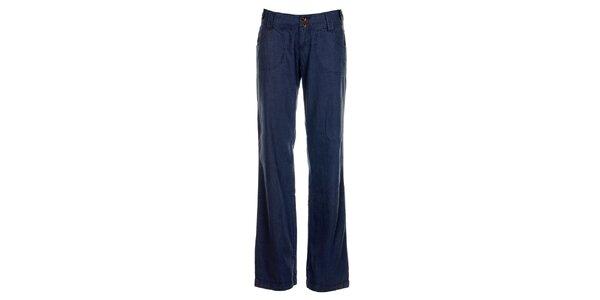 Dámske modré ľanové nohavice Timeout