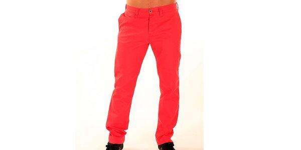 Pánske červené nohavice New Caro