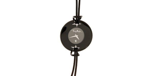 Dámske čierne náramkové hodinky Thierry Mugler
