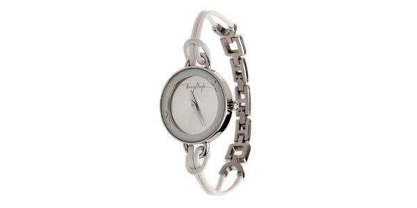 Dámske oceľové hodinky Thierry Mugler s kombinovaným remienkom
