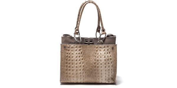 Dámska béžová kabelka s imitáciou hadej kože Isabella Rhea
