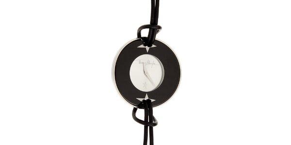 Dámske čierno-strieborné náramkové hodinky Thierry Mugler